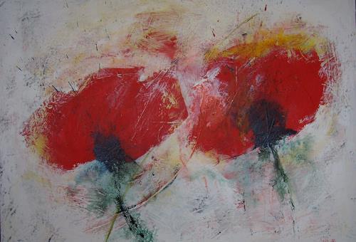 Sigrun Laue, Mohnblüten, Plants: Flowers, Expressionism
