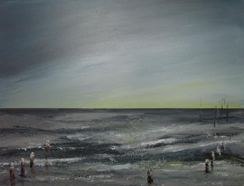 Sigrun Laue, Meer.2014, Nature: Water, Abstract Art, Expressionism
