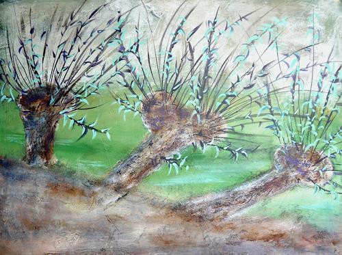 Sigrun Laue, Weiden, Landscapes: Spring, Abstract Art