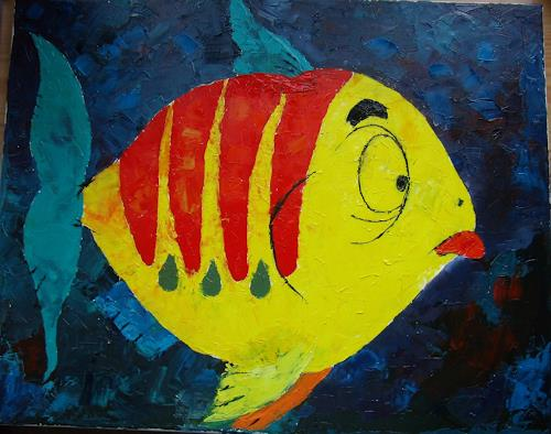 Sigrun Laue, Flunschfisch, Animals: Water, Abstract Art