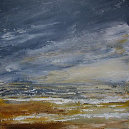 Sigrun Laue, am Meer 2018, Landscapes: Sea/Ocean, Abstract Art