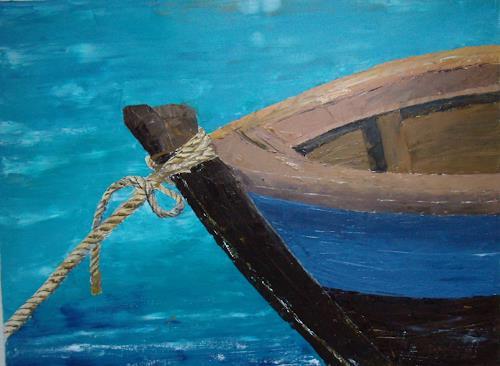 Sigrun Laue, blaues Boot, Miscellaneous, Abstract Art