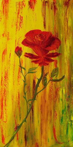 Susanne Köttgen, Rose II, Plants: Flowers, Realism