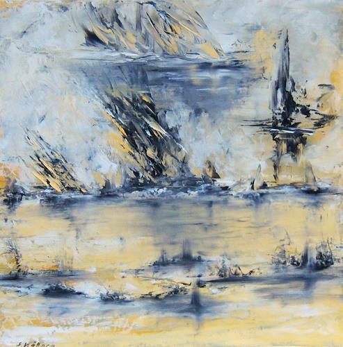 Susanne Köttgen, Grenzlinien, Abstract art, Landscapes: Sea/Ocean, Modern Age, Expressionism