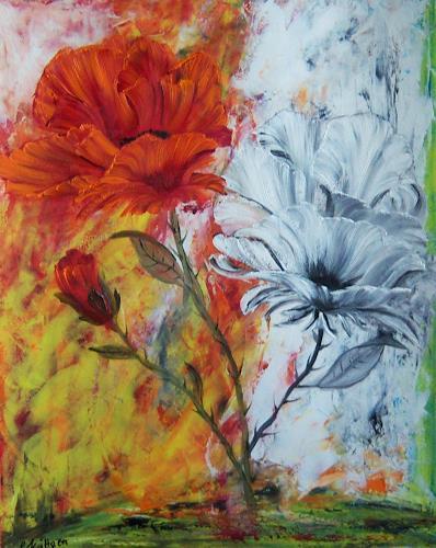 Susanne Köttgen, Die letzten Blumen, Plants: Flowers, Modern Age, Expressionism