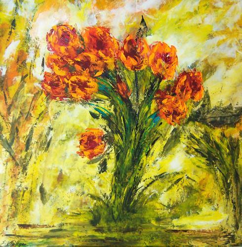 Susanne Köttgen, Blumenstrauß, Plants: Flowers, Modern Age, Expressionism
