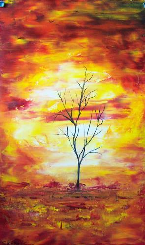Susanne Köttgen, Mein Freund der Baum III, Abstract art, Plants: Trees, Modern Age