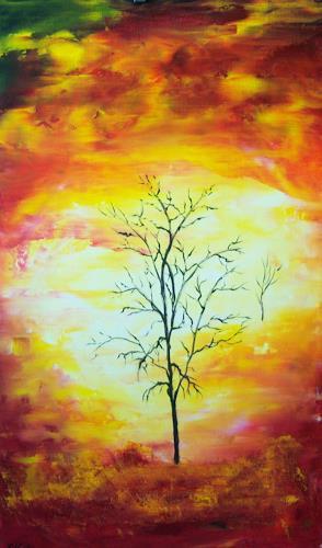 Susanne Köttgen, Mein Freund der Baum I, Abstract art, Plants: Trees, Modern Age