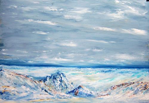 Susanne Köttgen, Eiszeit, Landscapes: Winter, Nature: Rock, Modern Age, Expressionism