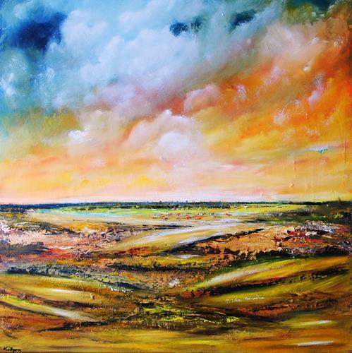 Susanne Köttgen, Geborgen sein, Landscapes: Plains, Nature: Air, Modern Age, Expressionism