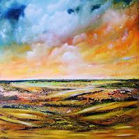 Susanne-Koettgen-Landscapes-Plains-Nature-Air-Modern-Age-Modern-Age