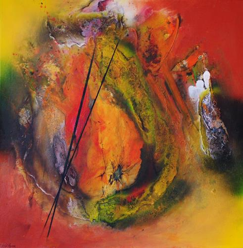 Susanne Köttgen, Erntedank, Abstract art, Fantasy, Abstract Expressionism, Expressionism