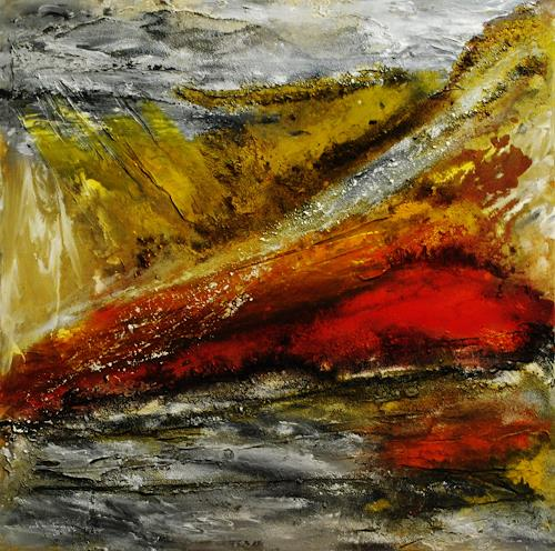 Susanne Köttgen, Seligkeit, Abstract art, Landscapes: Mountains, Abstract Expressionism