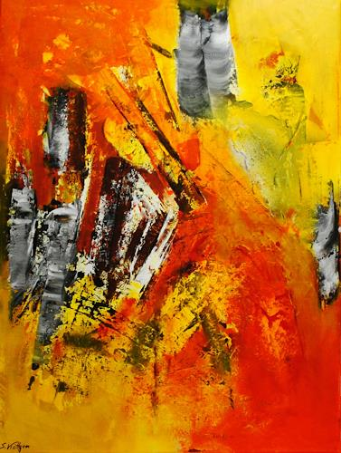 Susanne Köttgen, Entfaltung in Ruhe, Abstract art, Carnival, Abstract Expressionism