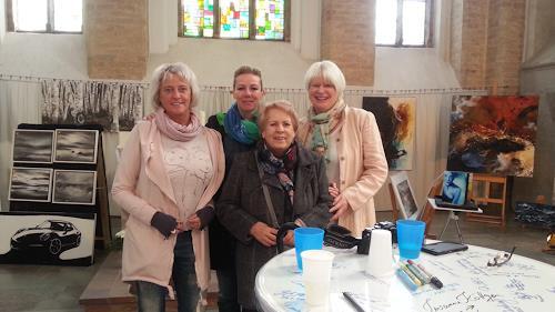 Susanne Köttgen, Besuch in der Nikolaikirche in Rostock, Poetry, People: Group, Contemporary Art
