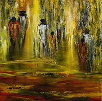 Susanne-Koettgen-People-Couples-Landscapes-Summer-Modern-Age-Expressionism-Abstract-Expressionism