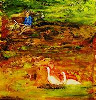 Susanne-Koettgen-People-Women-Landscapes-Summer-Modern-Age-Expressionism-Abstract-Expressionism