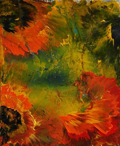 Susanne Köttgen, Ein vergangener Sommer, Abstract art, Plants: Flowers, Abstract Expressionism