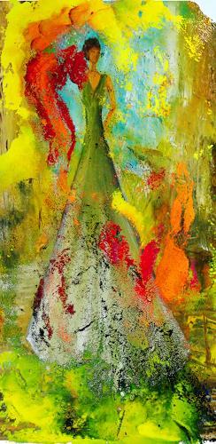 Susanne Köttgen, Feminin IV, Landscapes: Mountains, Abstract Expressionism, Expressionism