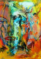 Susanne-Koettgen-People-Women-People-Faces-Modern-Age-Expressionism-Abstract-Expressionism