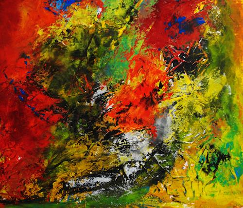 Susanne Köttgen, Der Wechsel / Detailansicht, Abstract art, Abstract Expressionism