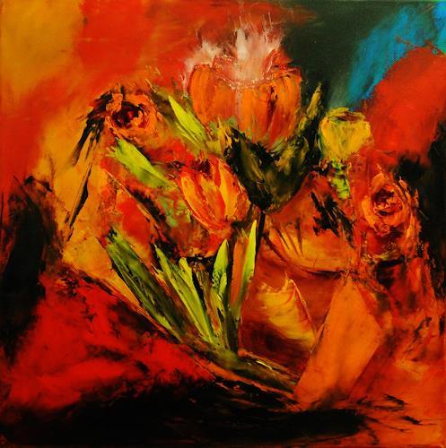 Susanne Köttgen, Frühling, Abstract art, Nature, Abstract Expressionism