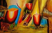 Susanne-Koettgen-Nature-Plants-Flowers-Modern-Age-Expressionism-Abstract-Expressionism