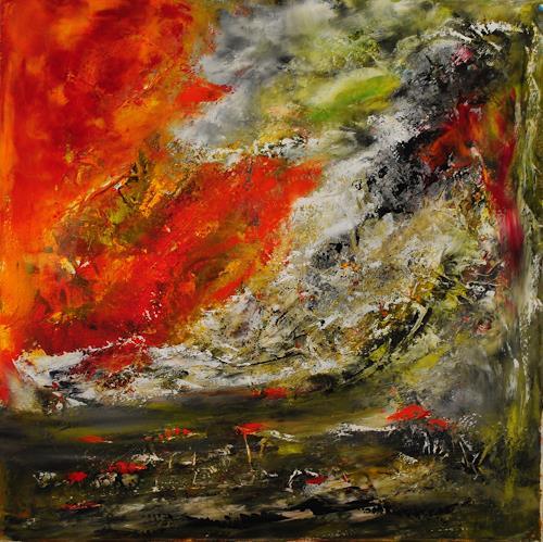 Susanne Köttgen, Ein Mensch durchlebt Gefühle, Abstract art, Emotions, Abstract Expressionism