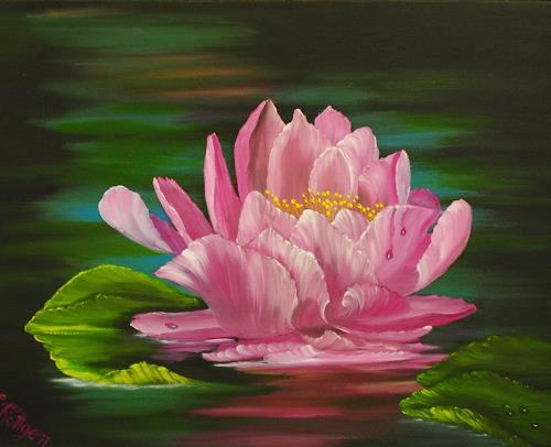 Susanne Köttgen, Seerose, Plants: Flowers, Nature, Realism, Expressionism