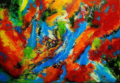 Susanne Köttgen, Diese Welt genießen, Abstract art, Abstract Expressionism