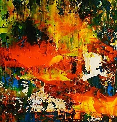 Susanne Köttgen, Nur für kurze Zeit / Serie, Fantasy, Landscapes, Abstract Expressionism