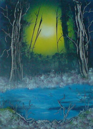 Birgitt Lange, Geisterwald, Fantasy, Nature: Wood