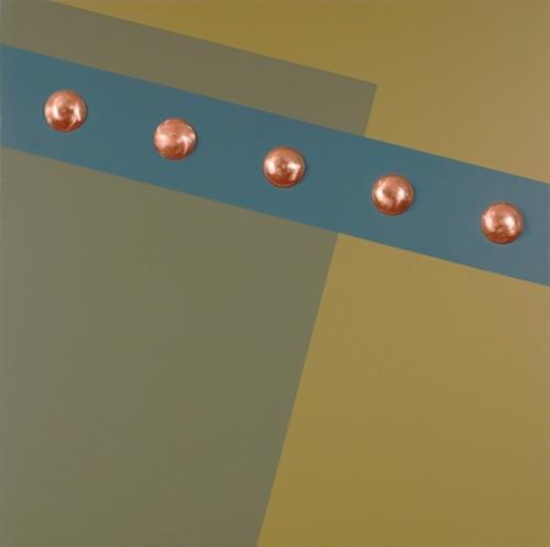 Kevork George Kassabian, 4- Copper Rivets, Abstract art, Minimal Art, Abstract Expressionism