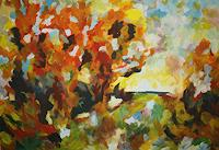 Isabel-Zampino-Landscapes-Autumn-Plants-Trees-Contemporary-Art-Contemporary-Art