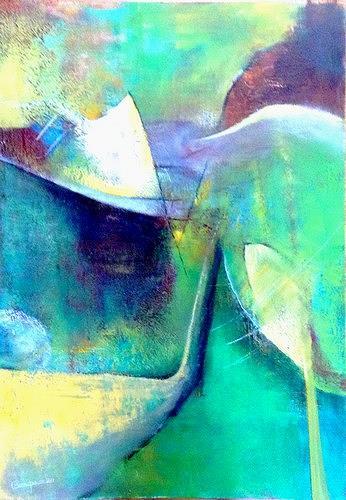Isabel Zampino, der Golfer, Leisure, Sports, Contemporary Art, Expressionism