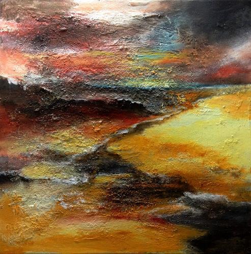 Isabel Zampino, am Ende der Wüste, Landscapes: Plains, Nature: Earth, Neo-Expressionism