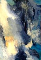 Isabel-Zampino-Nature-Water-Landscapes-Mountains-Modern-Age-Abstract-Art-Non-Objectivism--Informel-
