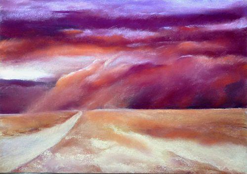 Isabel Zampino, vorne links abbiegen, Landscapes: Plains, Nature: Miscellaneous, Neo-Expressionism, Expressionism