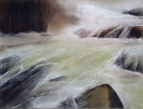 Isabel Zampino, Schneeschmelze, Landscapes: Spring, Nature: Water, Contemporary Art, Expressionism