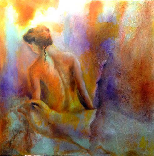 Isabel Zampino, Lila Bad, People: Women, Erotic motifs: Female nudes, Contemporary Art, Expressionism