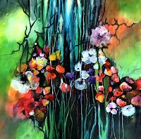 Isabel-Zampino-Landscapes-Summer-Plants-Flowers-Contemporary-Art-Contemporary-Art