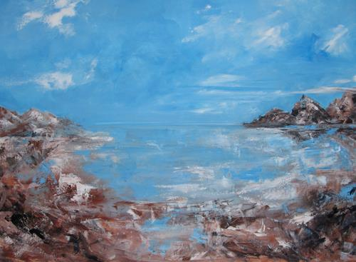 Els Driesen, Zee, Nature: Water, Landscapes: Beaches, Expressionism