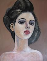 Els-Driesen-People-Women-People-Portraits-Modern-Age-Expressive-Realism