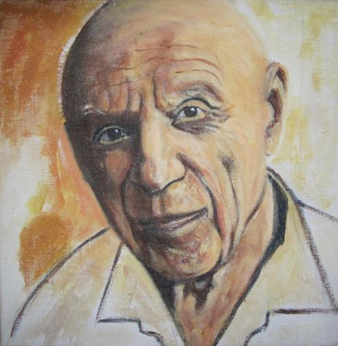 Els Driesen, picaso, People: Men, People: Portraits, Impressionism