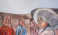 Els-Driesen-People-Group-People-Children-Modern-Age-Impressionism