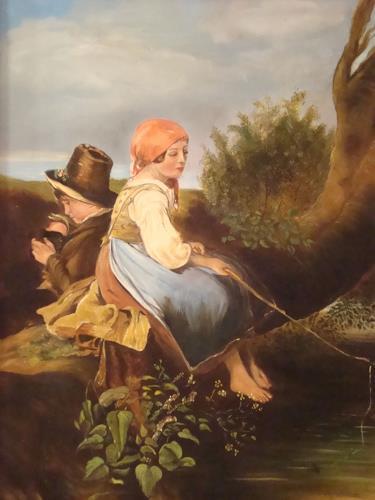 Doris Jordi, Fischende Kinder, Still life, People: Children