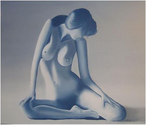 Doris Jordi, la femme voluptueuse, Erotic motifs: Female nudes, People: Models, Abstract Art