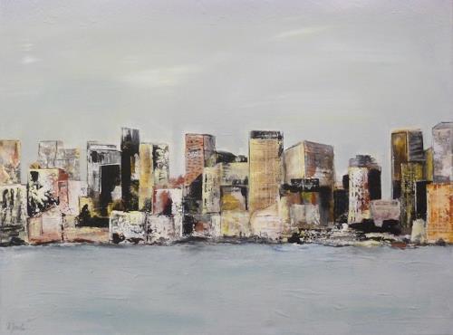 Doris Jordi, Skyline Panama City, Miscellaneous, Decorative Art, Abstract Art
