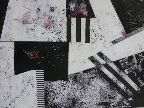 Doris Jordi, Black and White, Abstract art, Decorative Art, Abstract Art, Abstract Expressionism