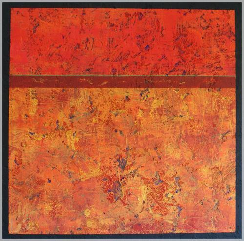 Doris Jordi, sea of flames, Abstract art, Modern Age